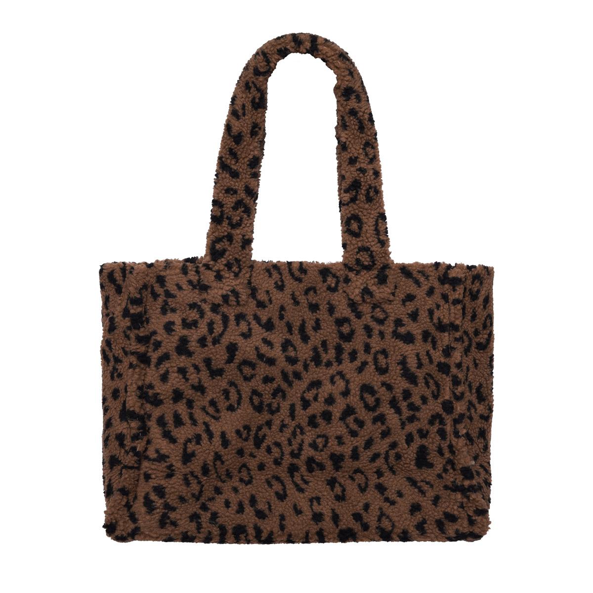 Tote de borreguito de leopardo