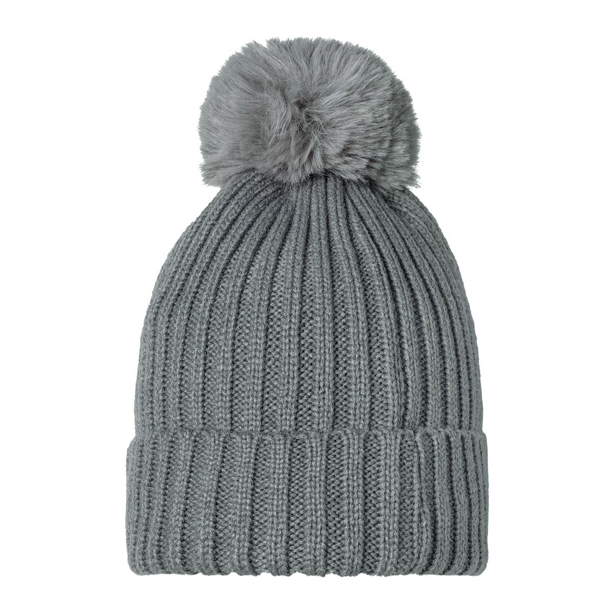 Mütze furry pompon