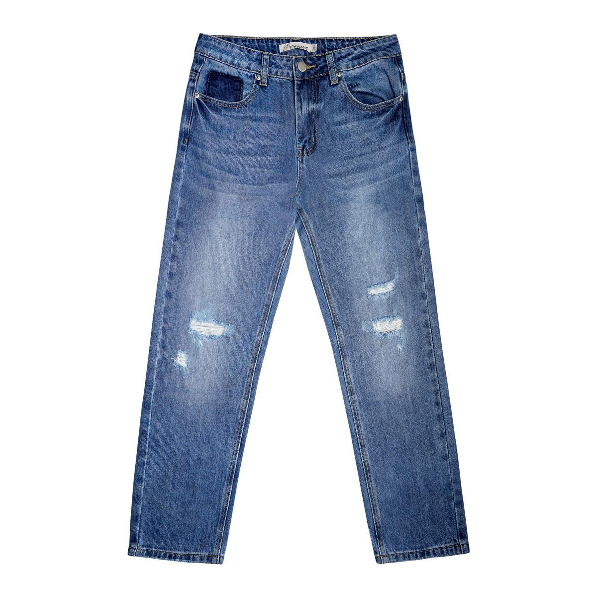 Knöchellange jeans mit verzweifelten details