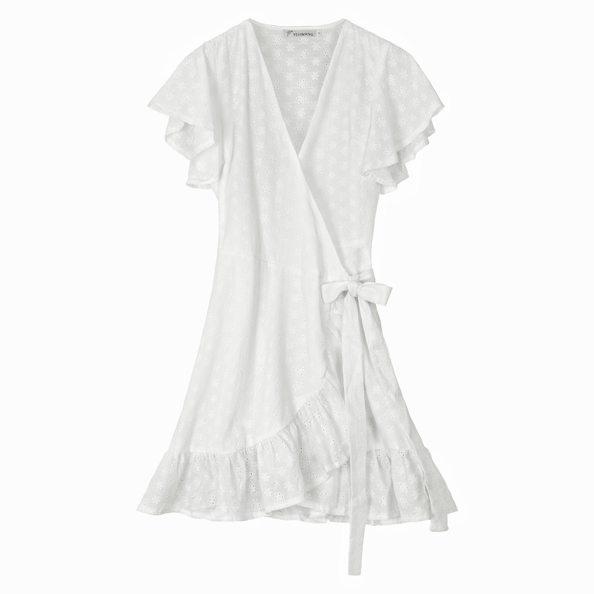 Broderie anglaise wickelkleid