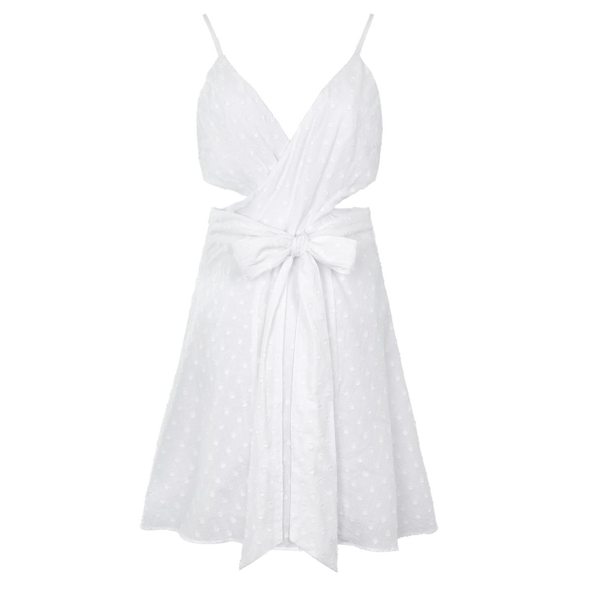 Mini vestido con cintura recortada