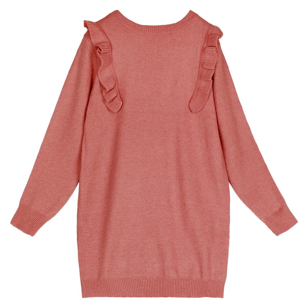 Sweater dress ruffles