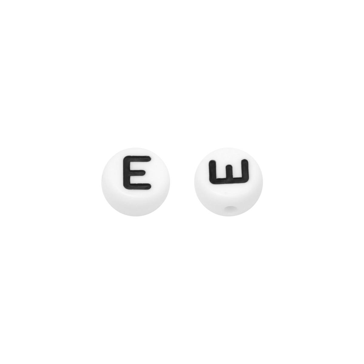 Diy flat beads letter e - 7mm