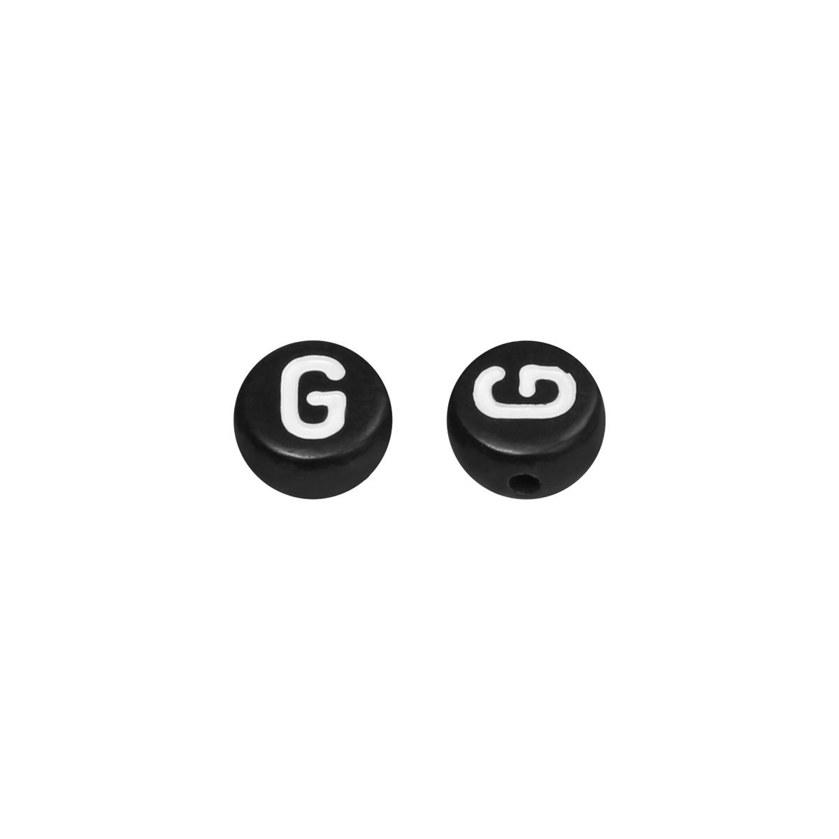 DIY Flat Beads Letter G - 7MM