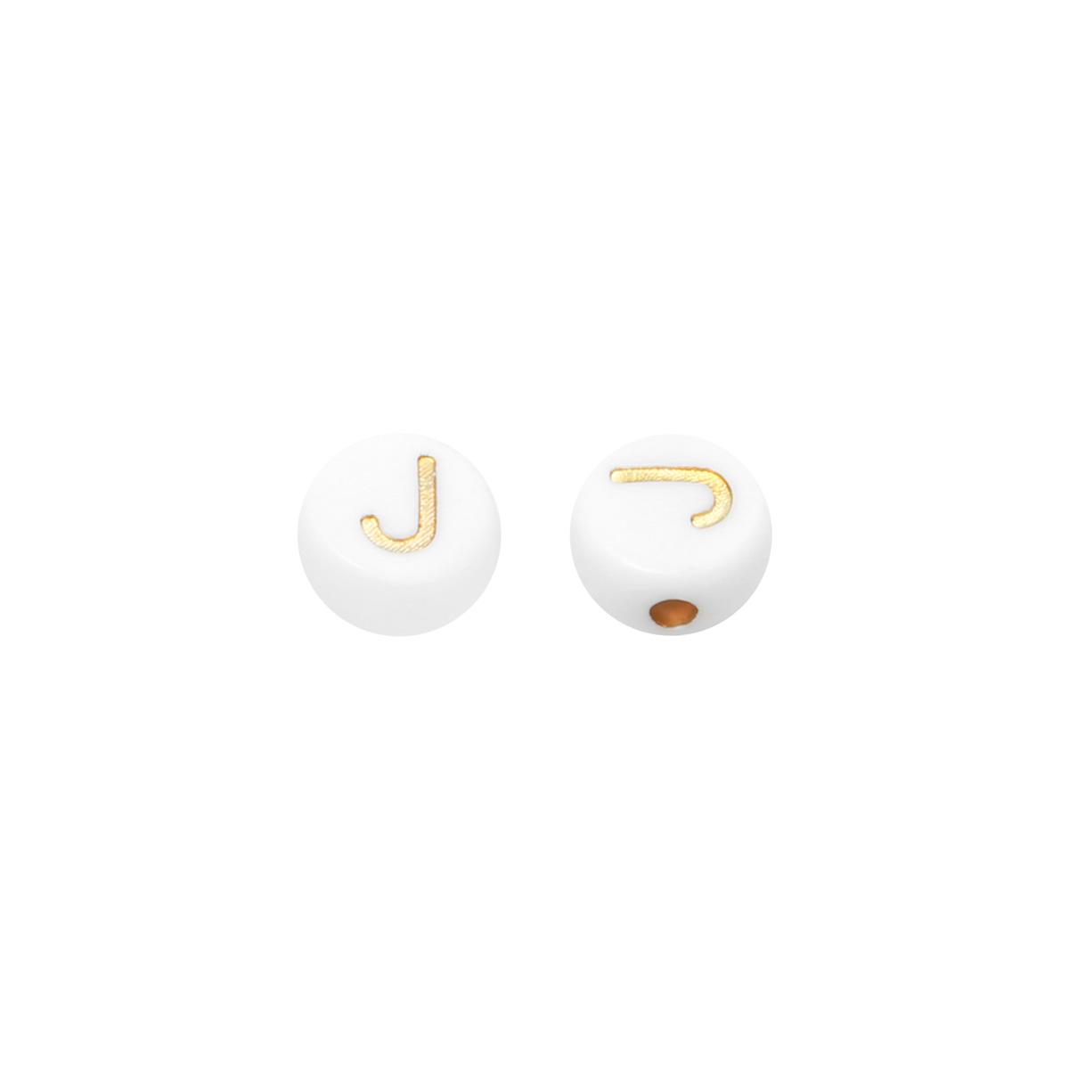 DIY Flat Beads Letter J - 7MM
