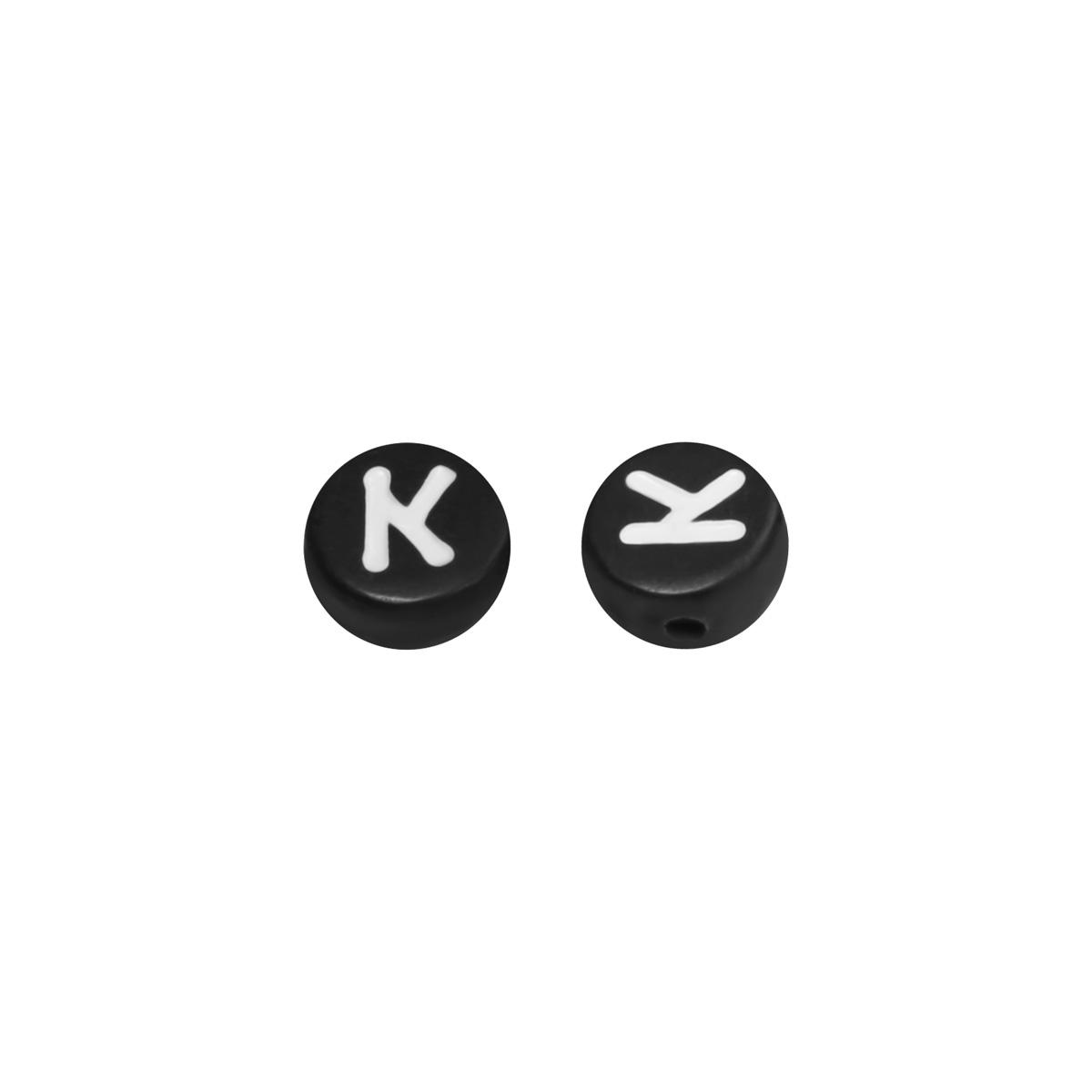 Diy flat beads letter k - 7mm
