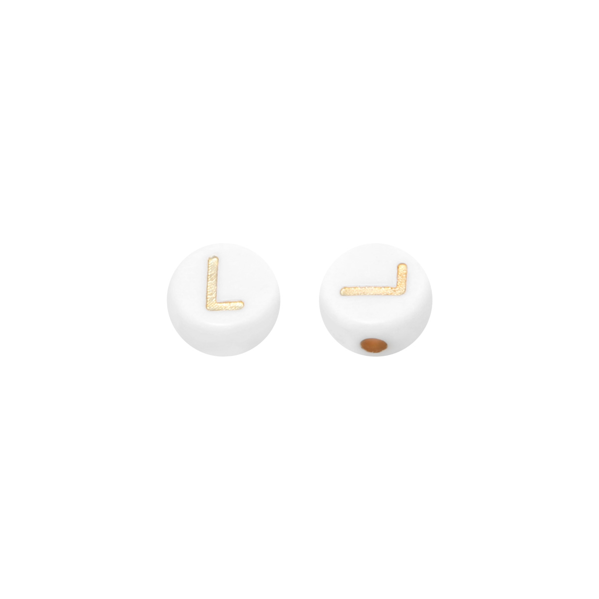 DIY Flat Beads Letter L - 7MM