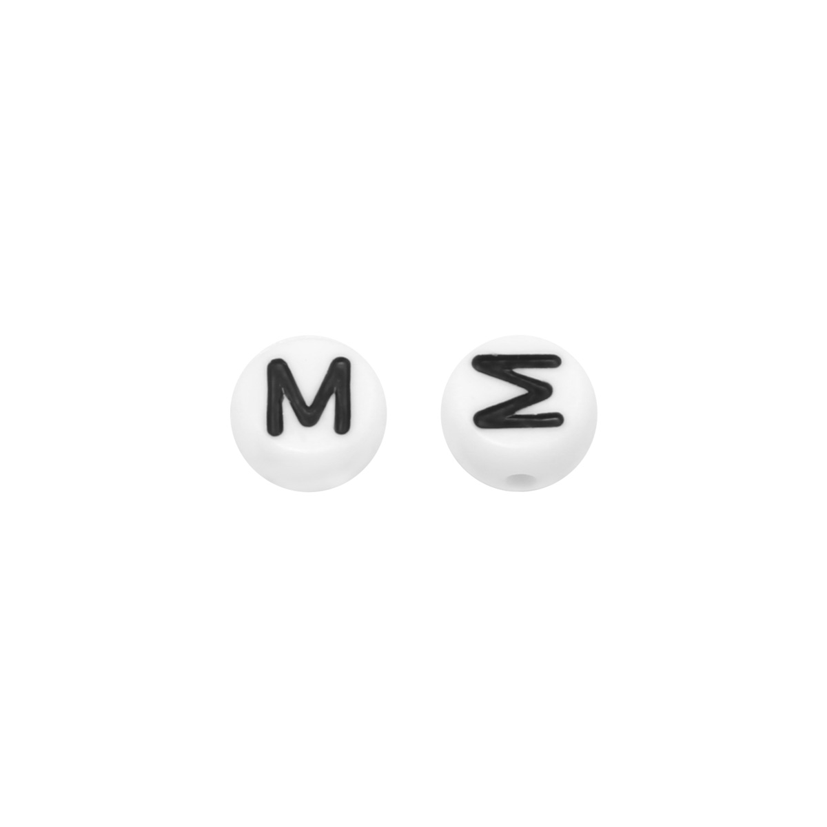 DIY Flat Beads Letter M - 7MM