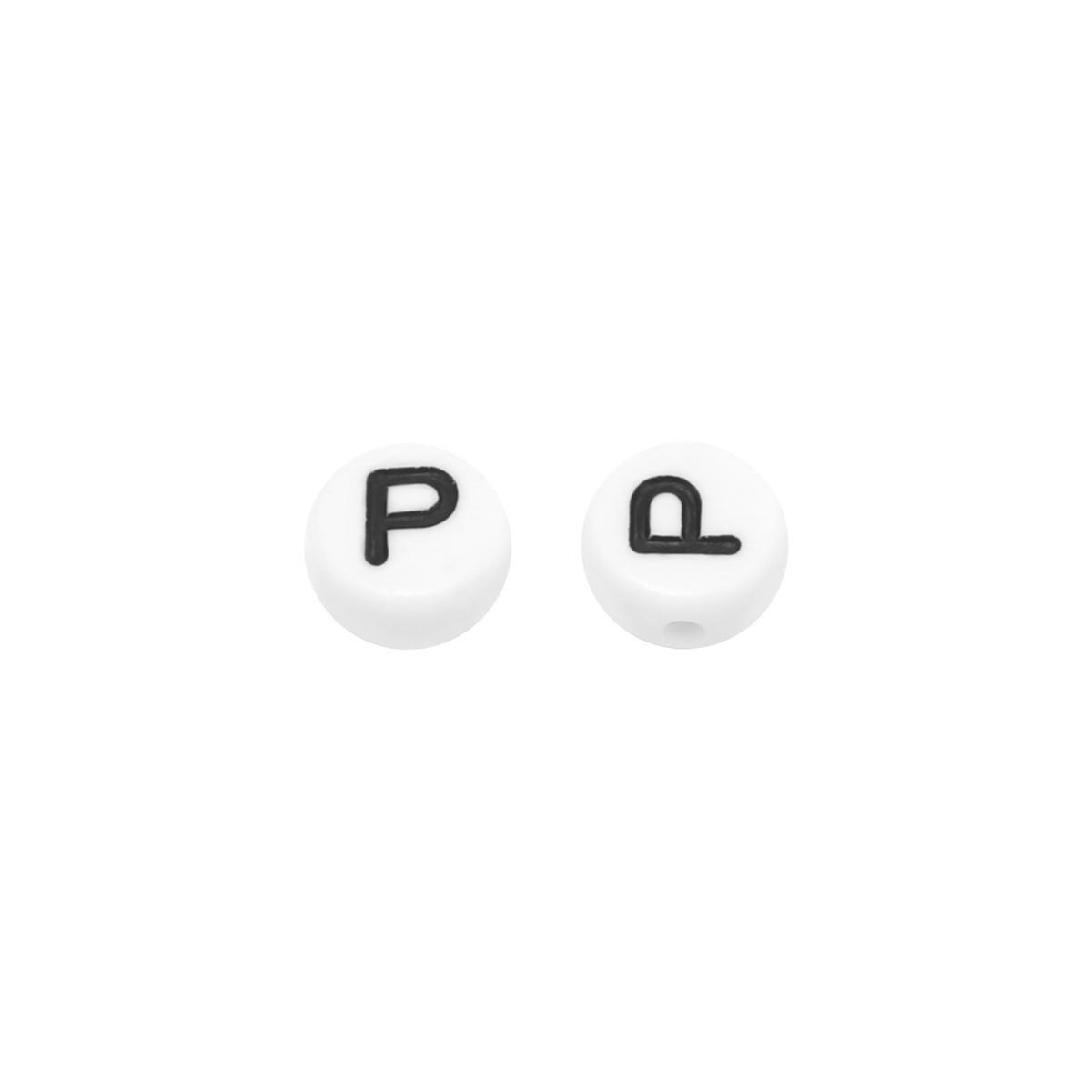 DIY Flat Beads Letter P - 7MM