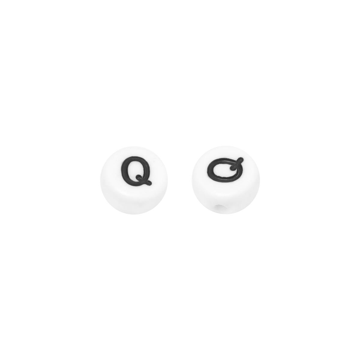 DIY Flat Beads Letter Q - 7MM