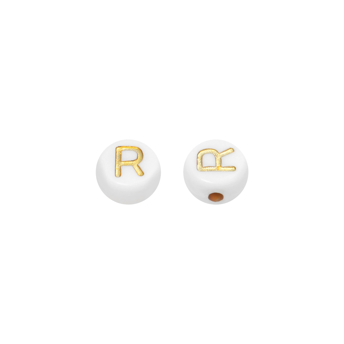 DIY Flat Beads Letter R - 7MM