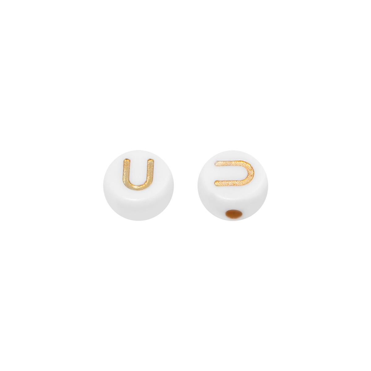 DIY Flat Beads Letter U - 7MM