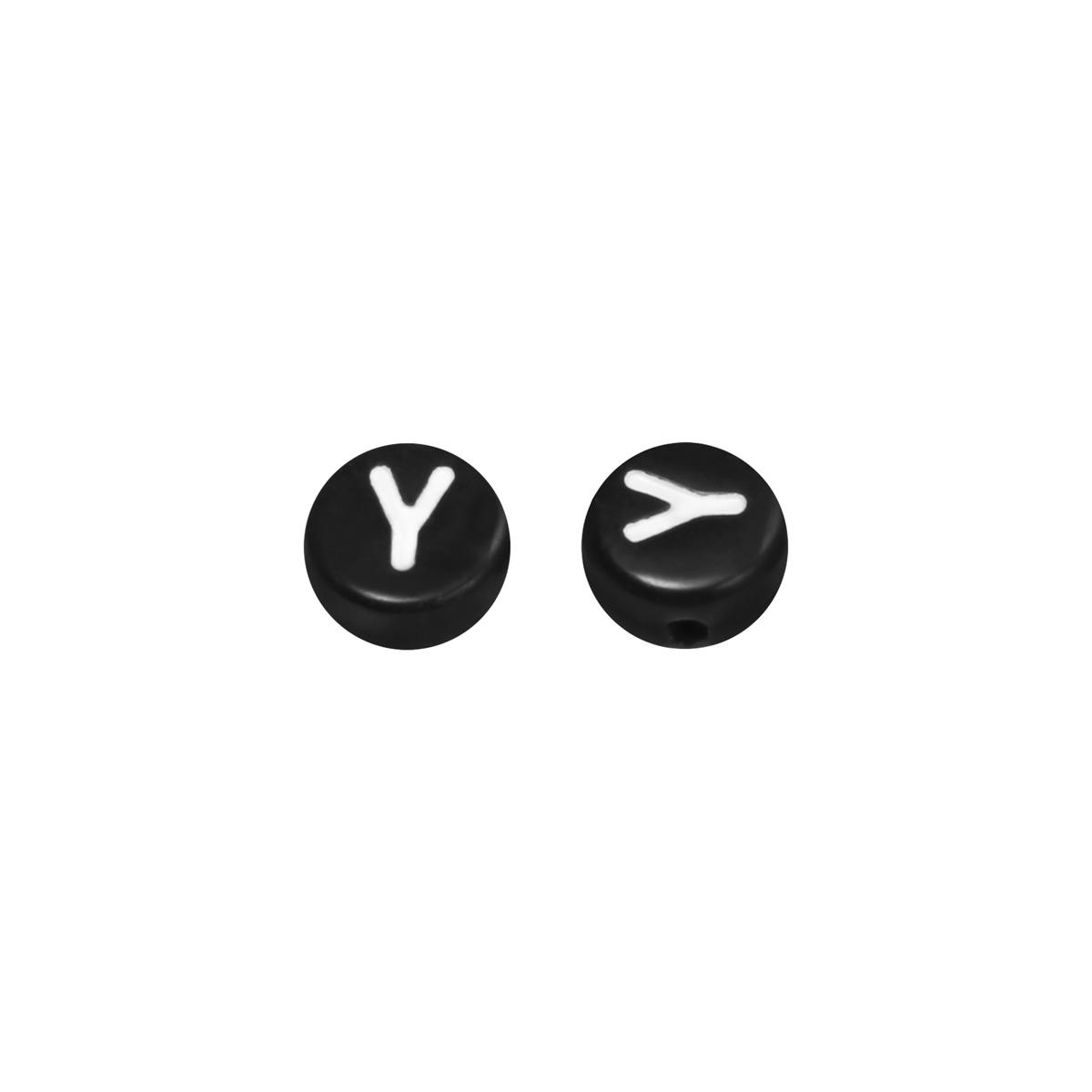 Diy flat beads letter y - 7mm