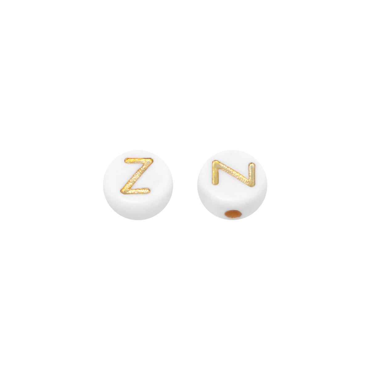 DIY Flat Beads Letter Z - 7MM
