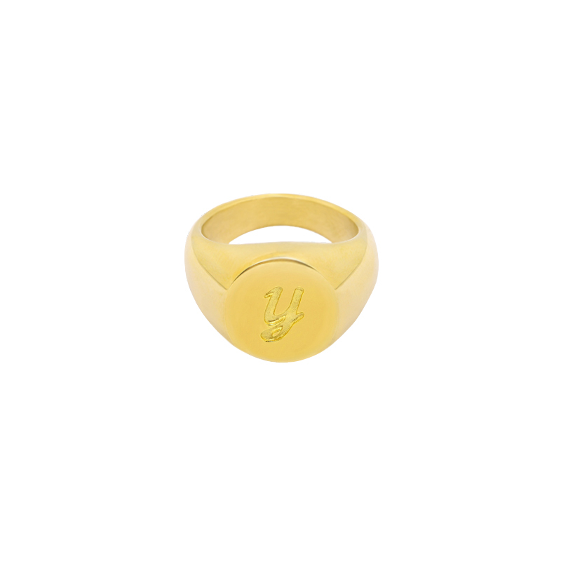 Ring Initial Y Signet Ring #16