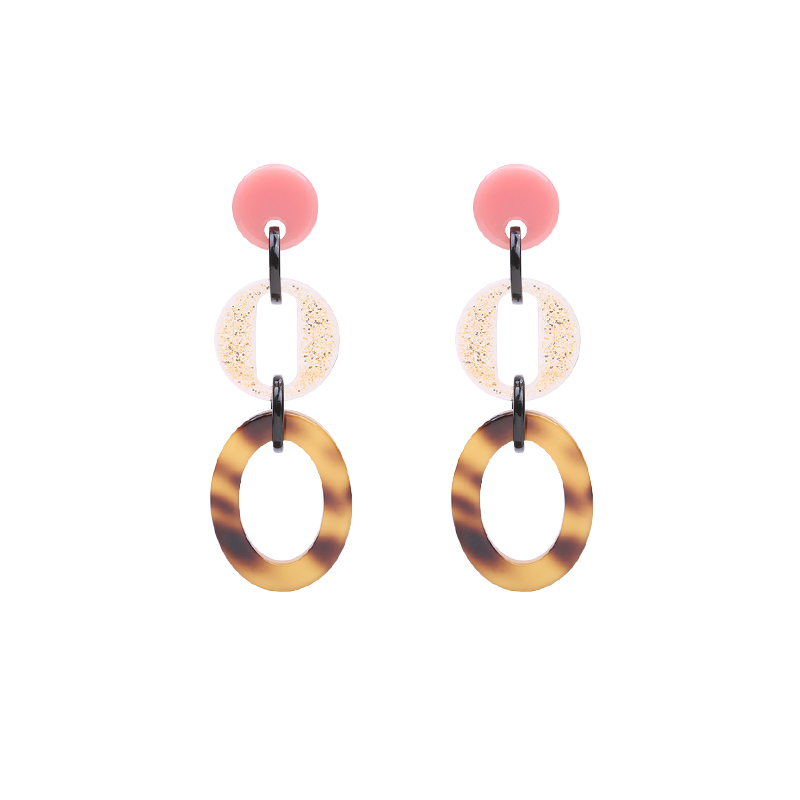 Earrings Statement Three Circles