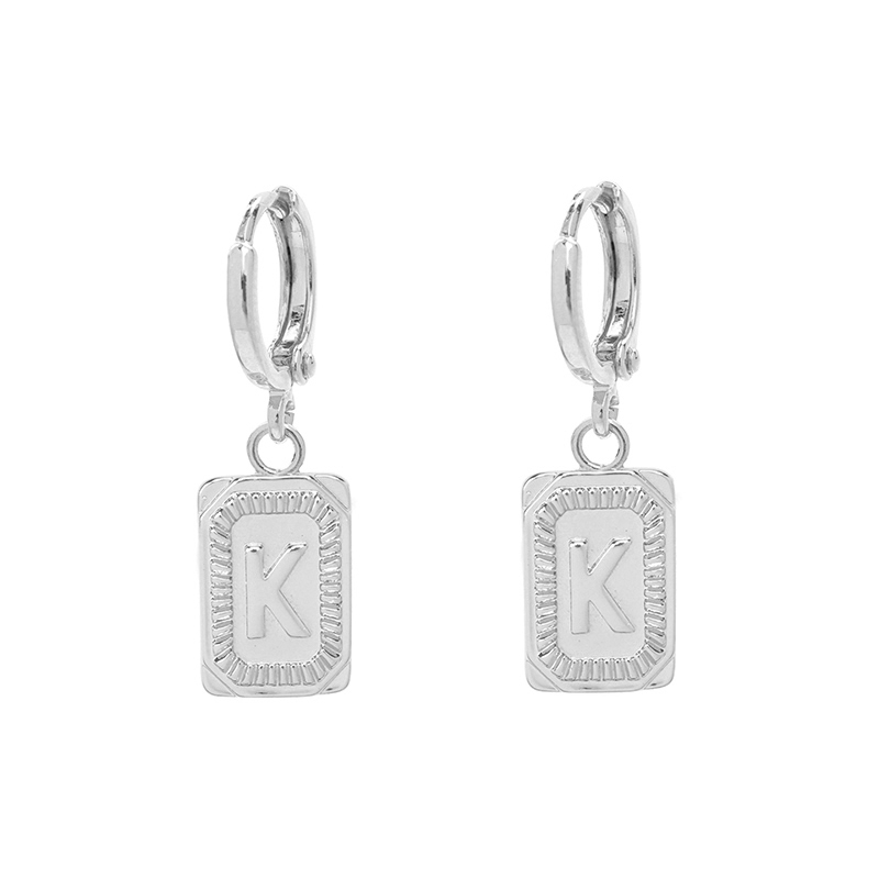 Antique Earrings Initial K