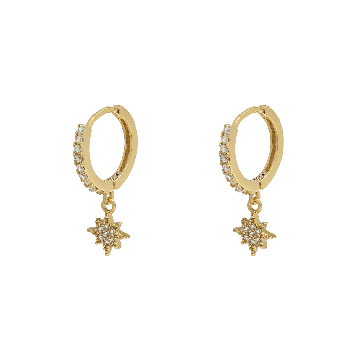 Earrings Zirconia Star