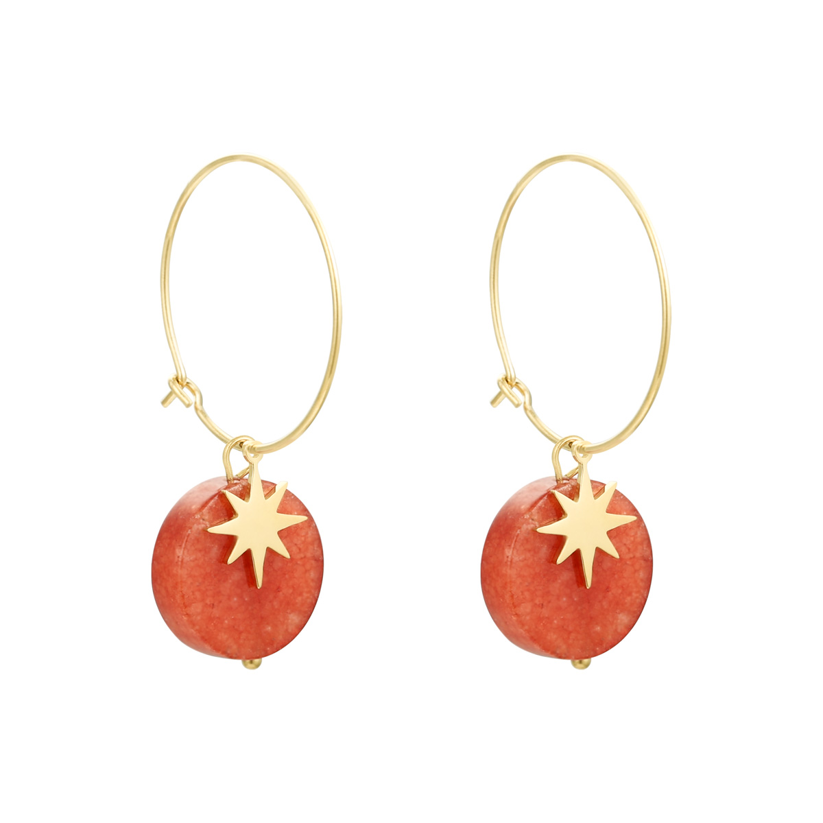 Earrings Natural Stone