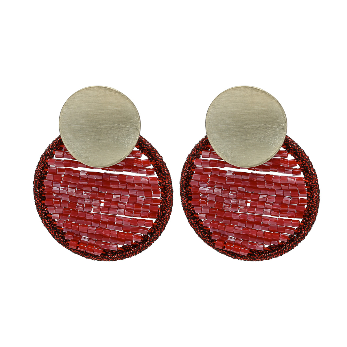 Boucles d'oreilles Circle Beads