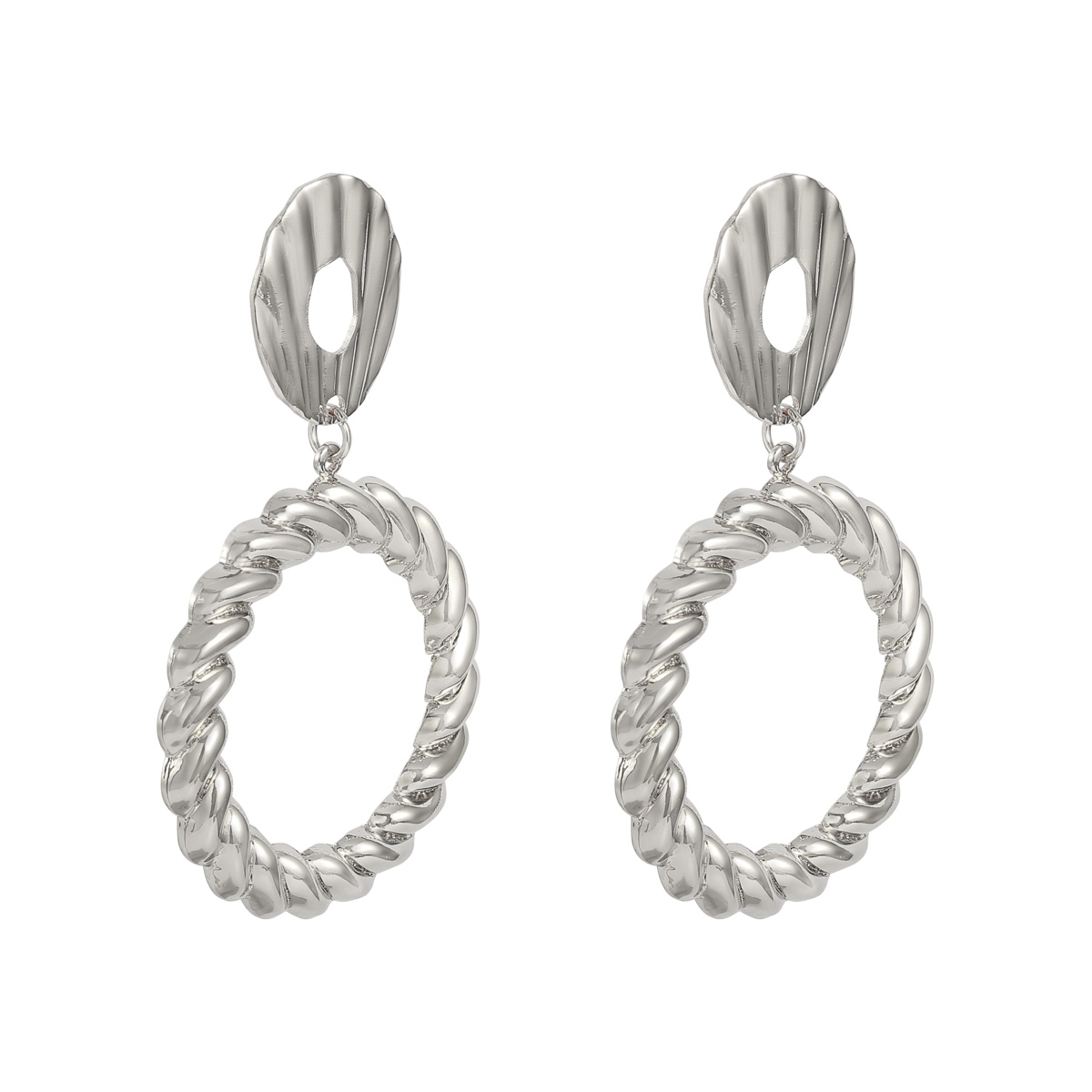 Earrings Twisted Circle