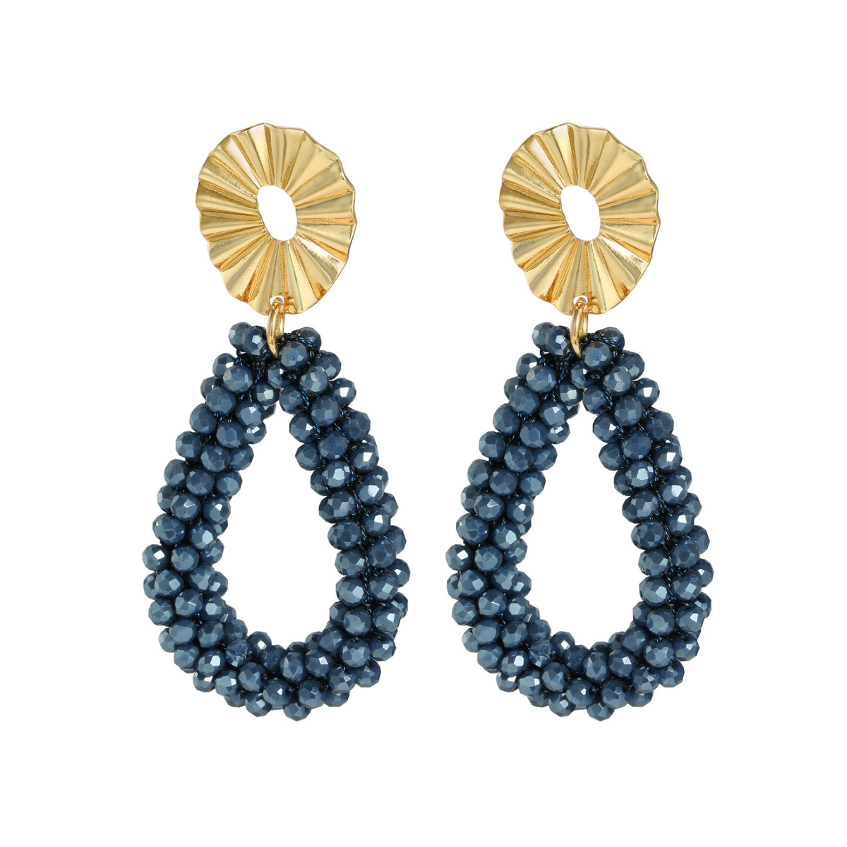 Aretes Crystal Hoops