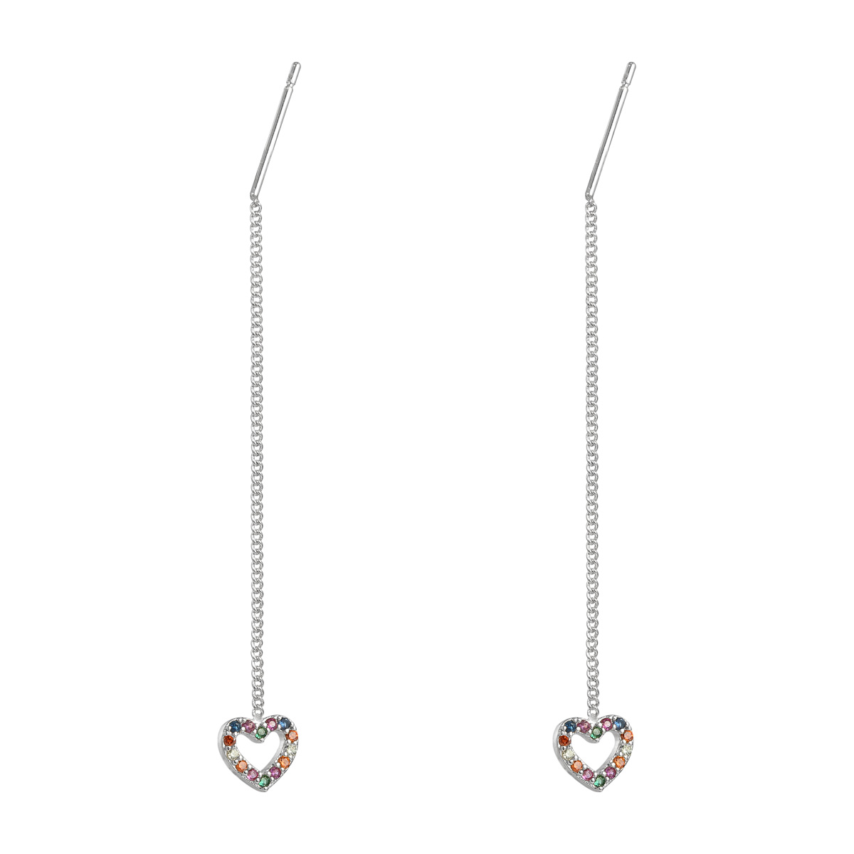 Pendientes Chained Heart
