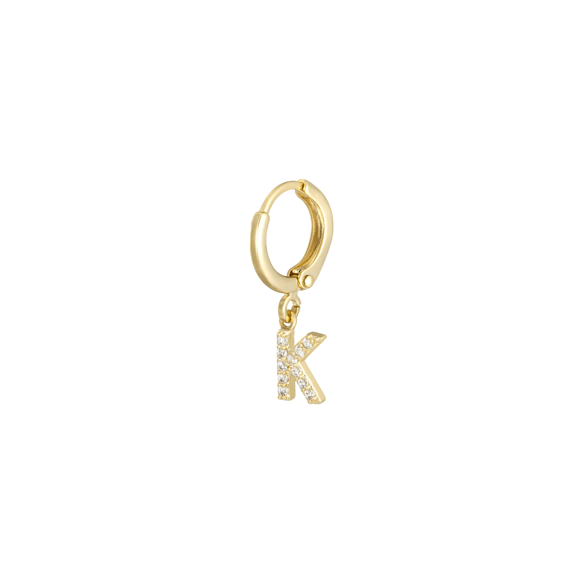 Earrings Initial K