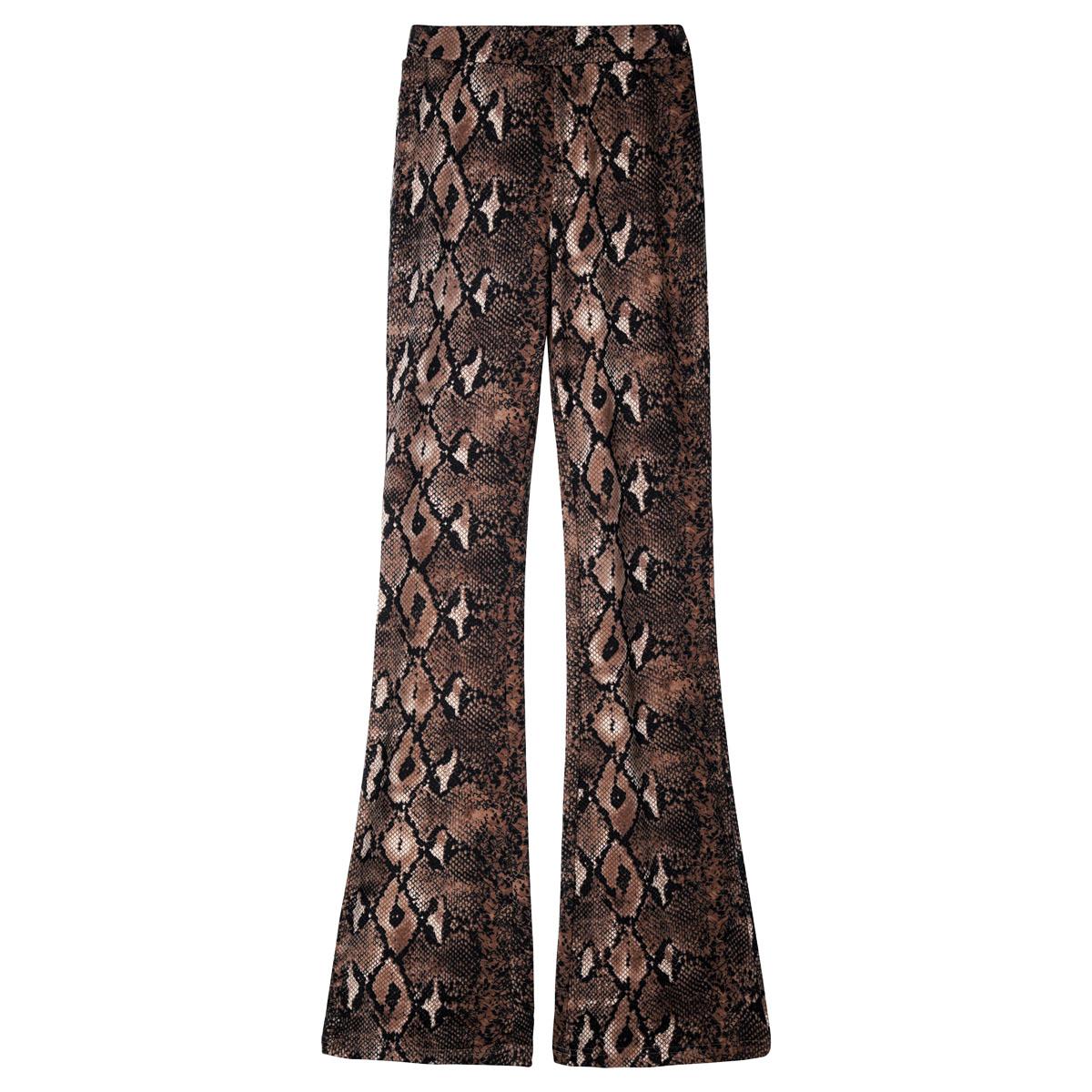 Pantalones flare snake