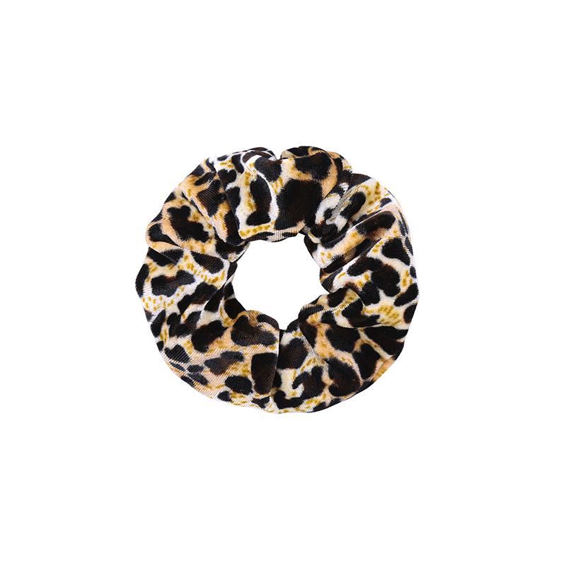 Scrunchie Sweet Leopard Velvet