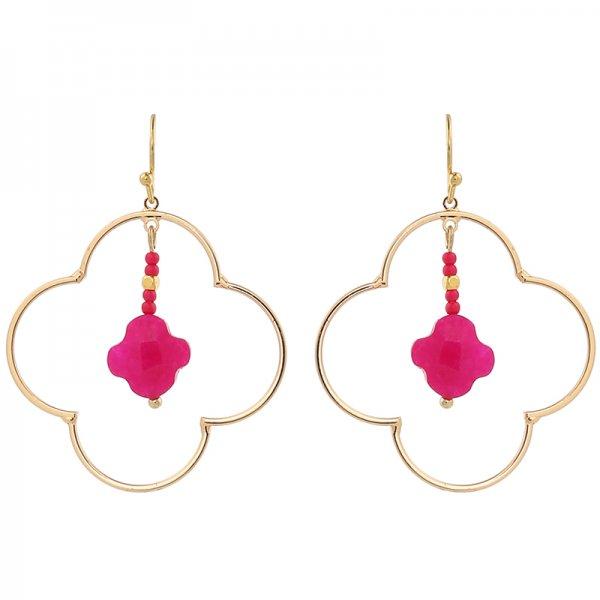 Boucles d'oreilles Lucky -pink-
