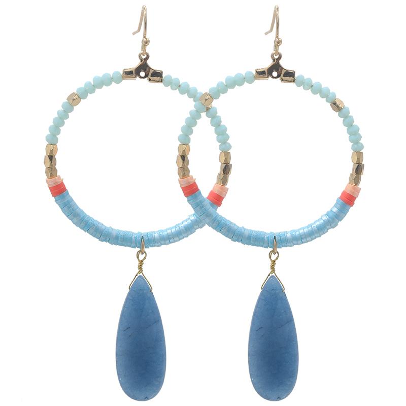 Earrings Colourful Beads