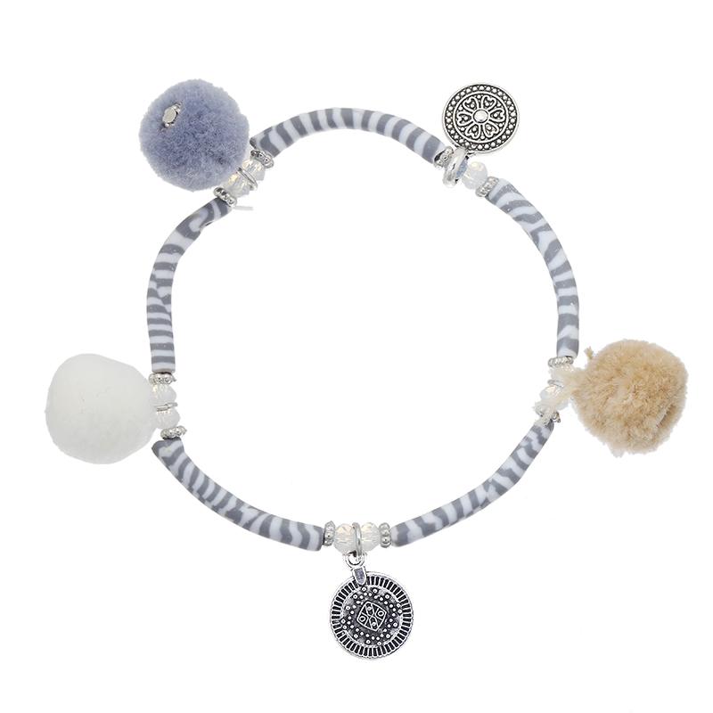 Bracelet Pompom & Stripes