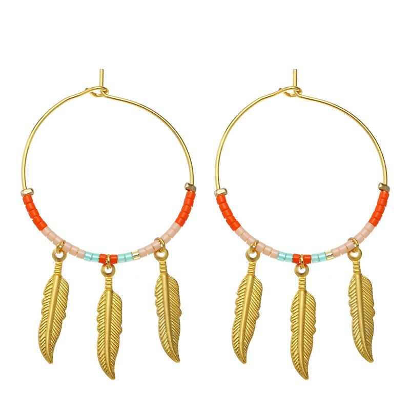 Boucles d'oreilles Colourful Feathers