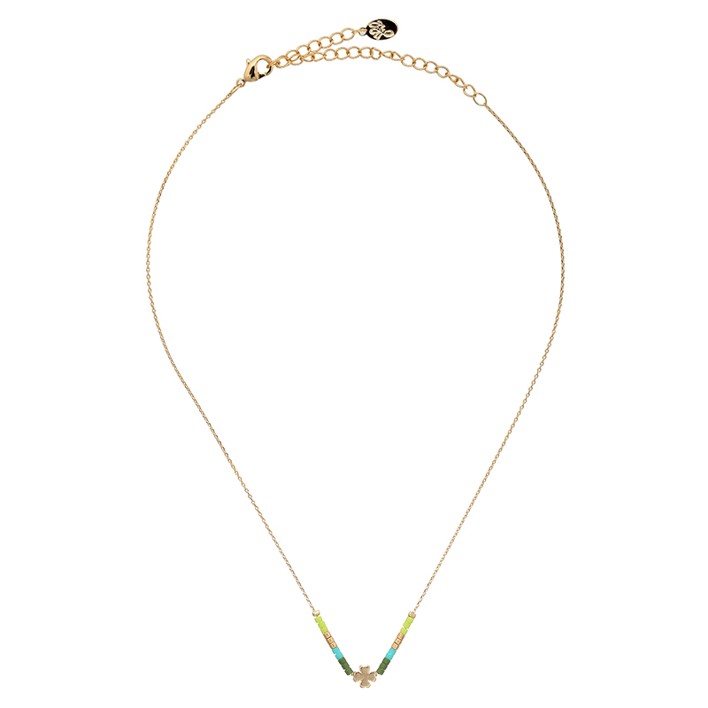 Collier Beads & Clover