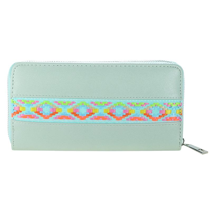 Wallet Neon Aztec