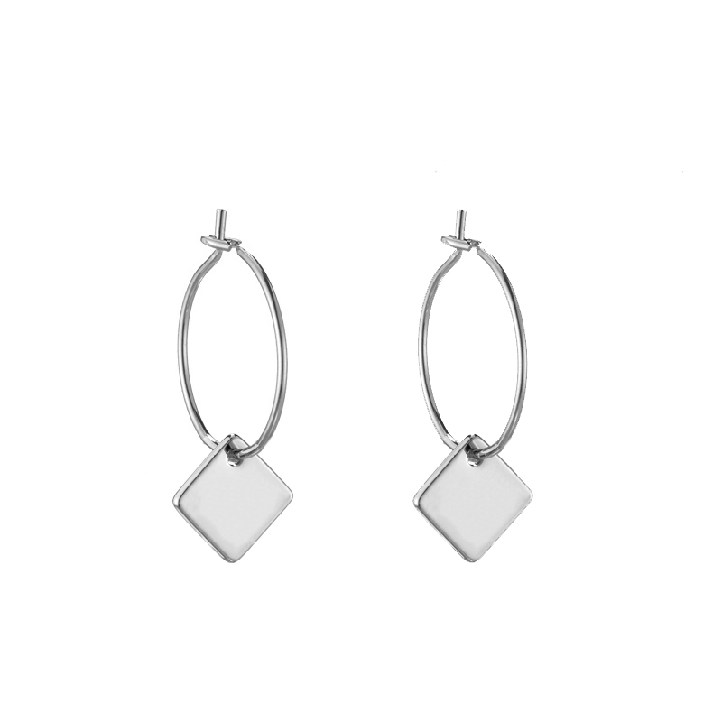 Earrings Chic Square