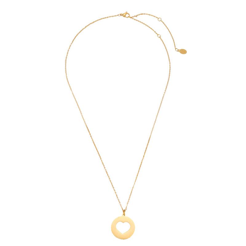 Necklace Long Open Heart