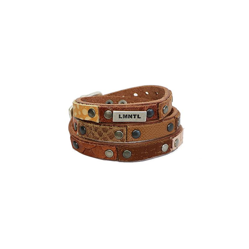 Bracelet Heavy Studs Wrap Thrice