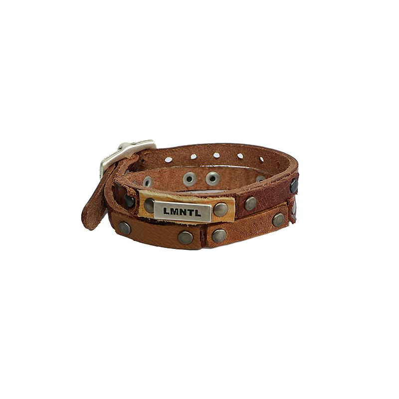 Bracelet Heavy Studs Wrap Twice