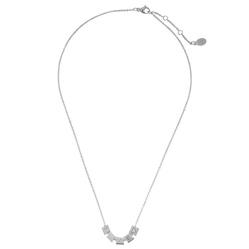 Necklace Love Blocks