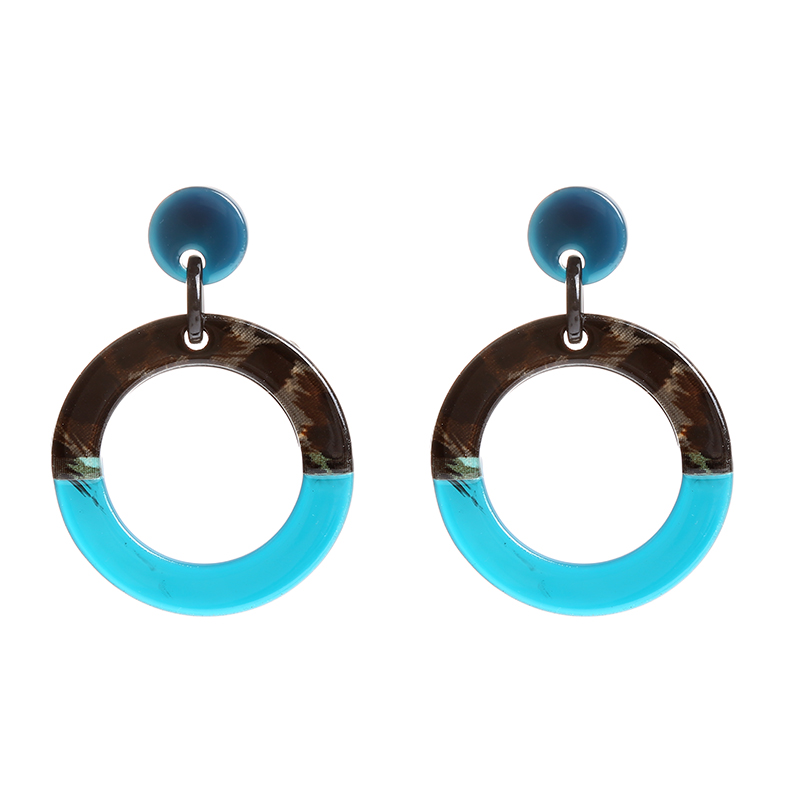 Earrings Statement Circles Double Color